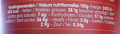 Spéculoos à tartiner - حقائق غذائية - fr