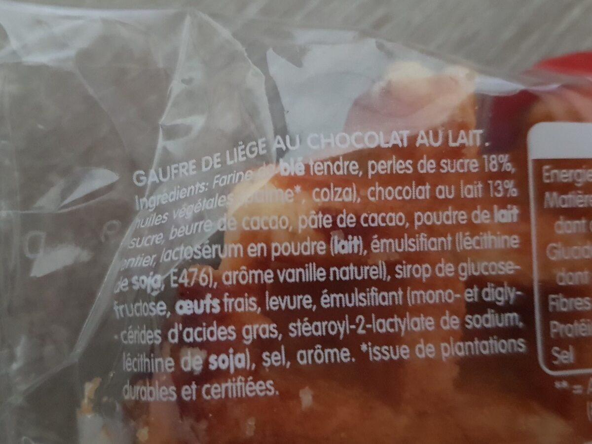 Gaufre de liège Chocolat au lait - Ingrédients - fr