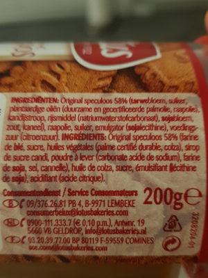 Speculoos pate a tartiner - Ingrediënten - fr