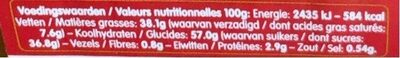 Speculoos pate a tartiner - Voedingswaarden - fr