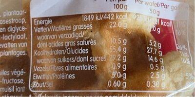 Suzy aux perles de sucre - Voedingswaarden - fr
