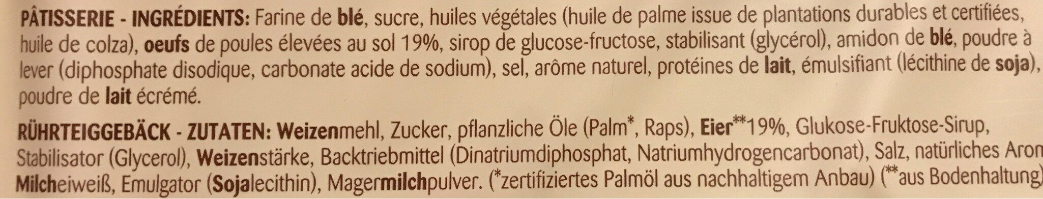 Madeleine - Ingrediënten