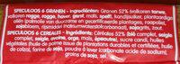 Speculoos 6 céréale - Ingrédients - fr