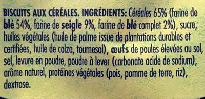 Dinosaurus Mini Céréales - Ingrediënten