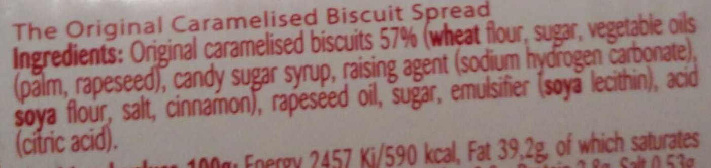 Biscoff Spread - Ingredients - en