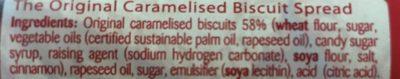 Biscoff Spread - Ingrédients
