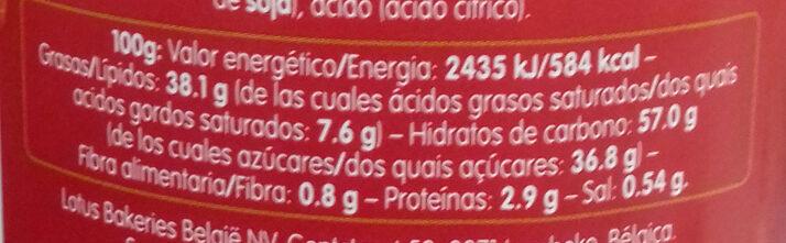 Biscoff Spread - Información nutricional - es