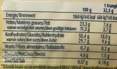Mini Frangipane - Informations nutritionnelles