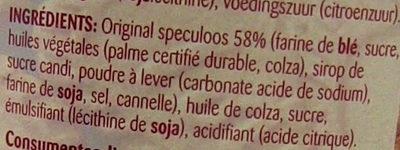 Biscoff Spread - Ingredienti - fr