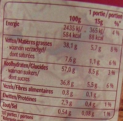 Biscoff Spread - Valori nutrizionali - fr