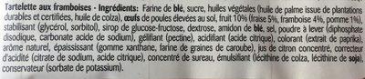 Tartélice Framboise - Ingrediënten - fr
