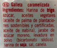 Galleta Caramelizada - Ingrédients