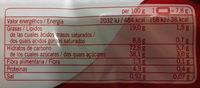 Galleta Caramelizada - Informations nutritionnelles