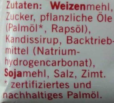 Biscoff - Inhaltsstoffe
