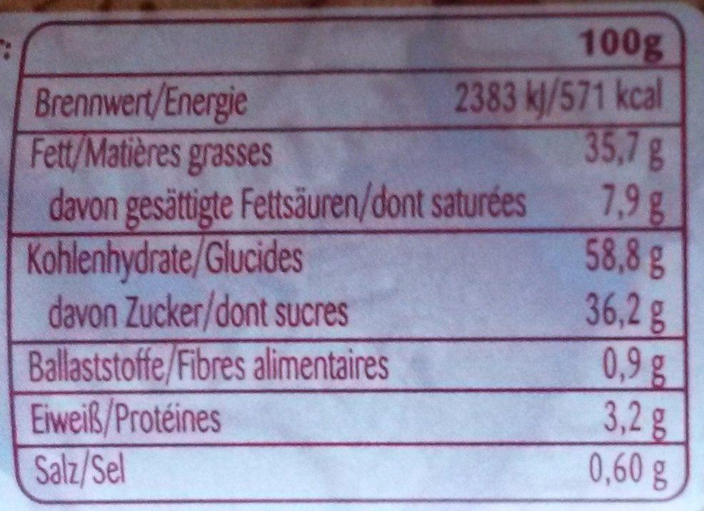 Biscoff Crunchy Brotaufstrich - Información nutricional - de