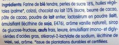 Gaufre de Liège (l'originale chocolat au lait) - Ingredients - fr