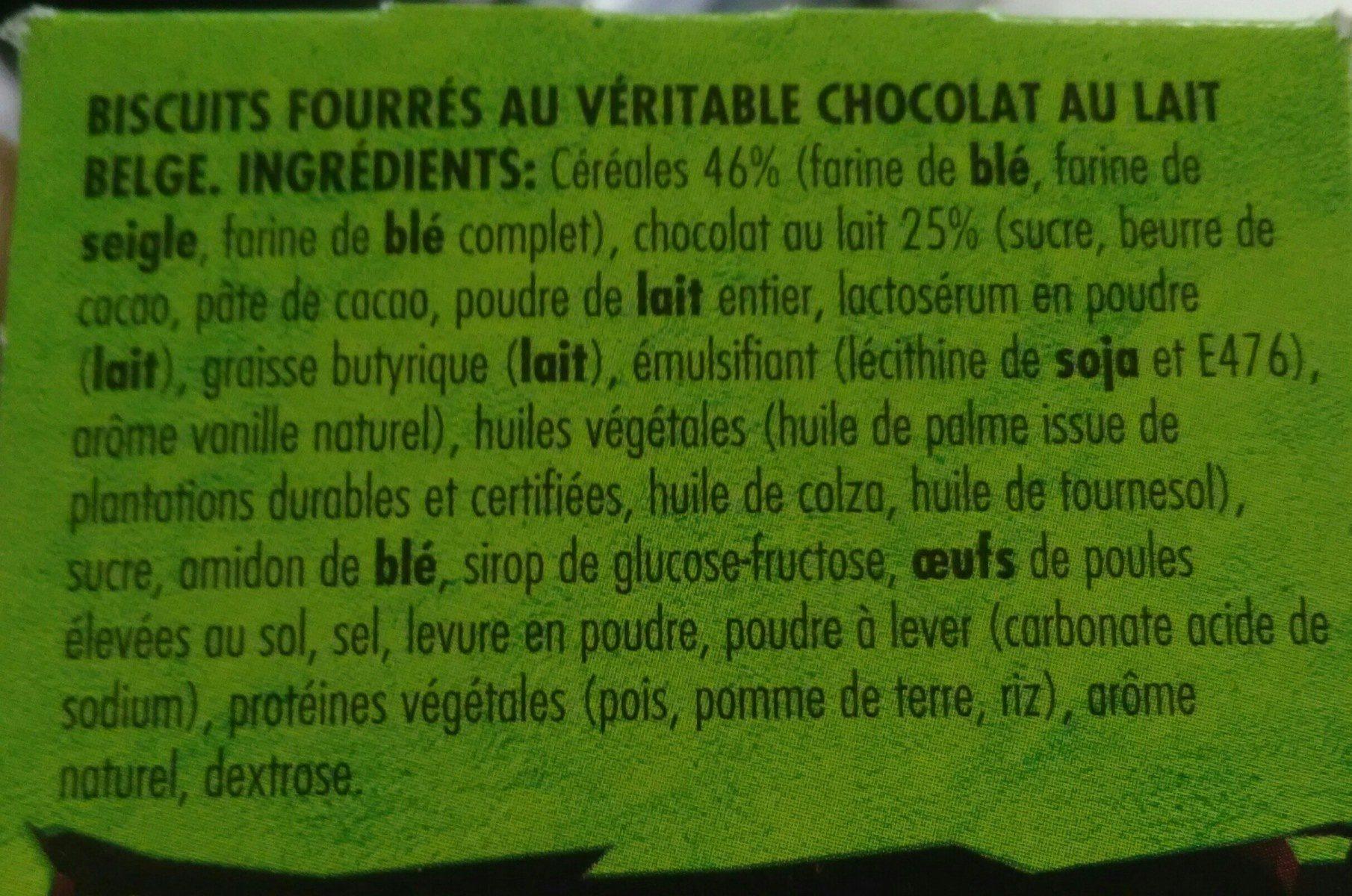 Dinosaurus Chocolat au lait - Ingrediënten - fr