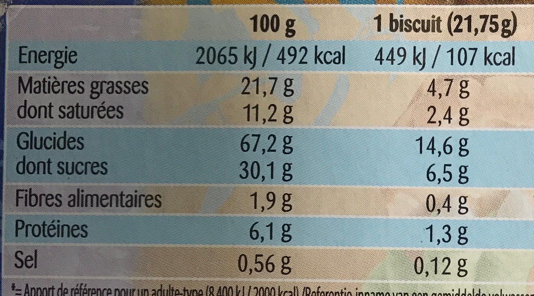 Dinosaurus Chocolat au lait - Voedingswaarden - fr