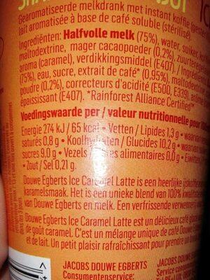 Ice Caramel Latte - Voedingswaarden - fr