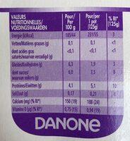 Danone Vitalinea Fruit - Informations nutritionnelles - fr