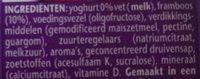 Danone Vitalinea 0% Raspberry - Ingredients