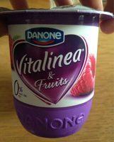 Danone Vitalinea 0% Raspberry - Nutrition facts