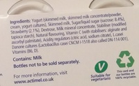 Actimel Strawberry - Ingredients