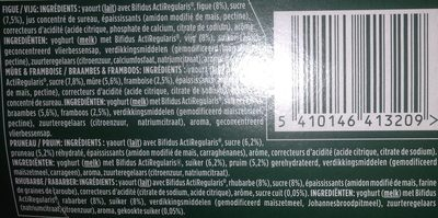 Activia Yoghurt Assorti RVPC Tray 8 X 125 Gram - Ingrediënten