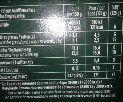 Activia Yoghurt Assorti RVPC Tray 8 X 125 Gram - Voedingswaarden