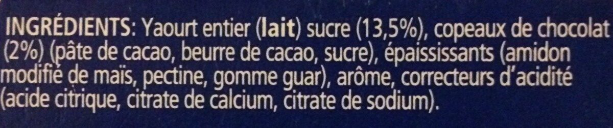 Yaourt à la grecque Stracciatella - Ingrediënten