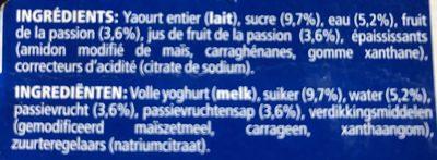 Oikos yaourt à la grecque - fruit de la passion - Ingrediënten - fr