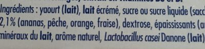 Actimel Multifruit - Ingredients