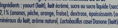 Actimel Multifruit - Ingredients - fr