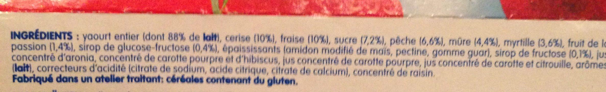 Danone fruit - Ingredients