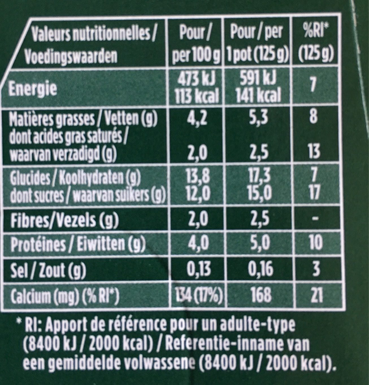 Activia Céréales Noisette Quinoa - Informations nutritionnelles - fr