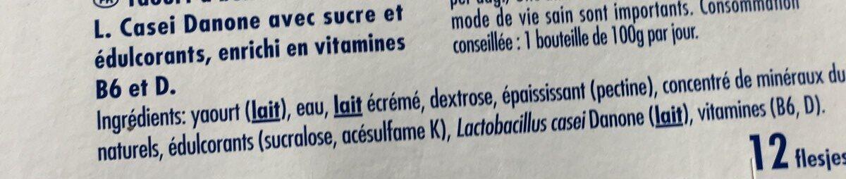 Actimel - Ingrediënten
