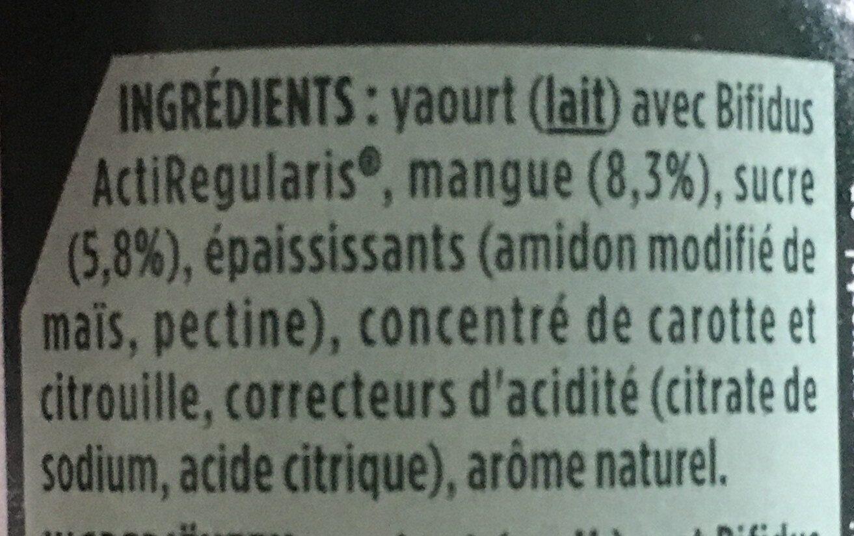 Yaourt à la mangue - Ingrediënten - fr