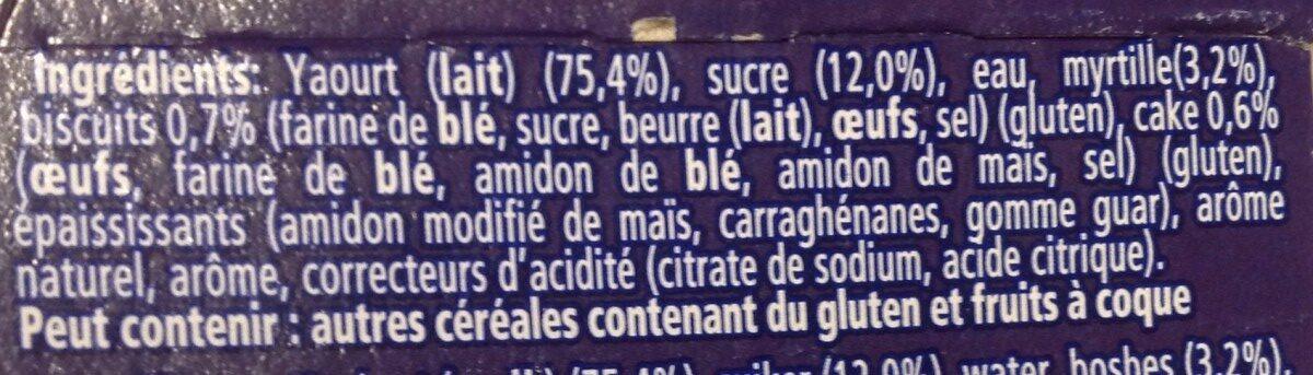 Yaourt à la grecque cheesecake myrtille - Ingrediënten