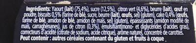 Oikos tarte au citron - Ingrédients - fr