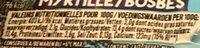 Myrtille /bosbes - Voedingswaarden