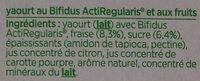 Activia fraise - Ingredienti - fr
