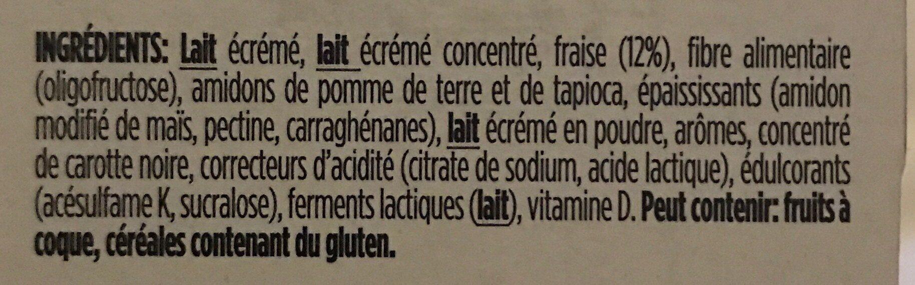 Light and Free Fraises - Ingrediënten