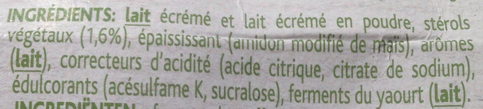 Danacol - Ingrediënten