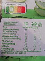 Activia kiwi limoen&Aloe Vera - Voedingswaarden - fr