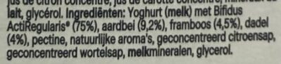 Activia - Ingrediënten - nl