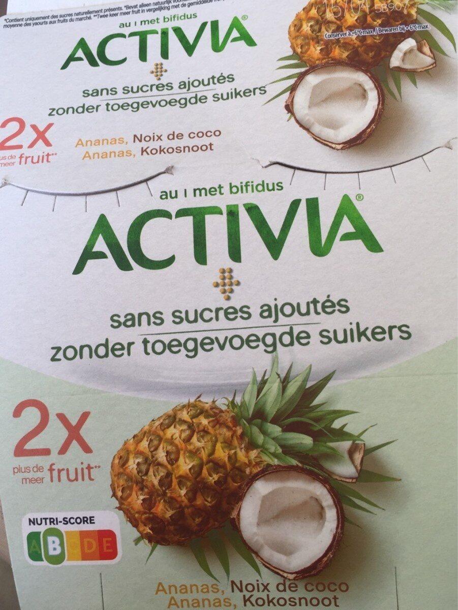 Activia sans sucres ajoutes aux 2 fruits - Product - fr