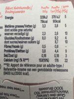 Activia sans sucres ajoutes aux 2 fruits - Voedingswaarden - fr