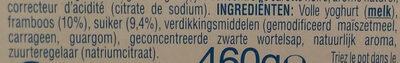 Oikos framboise - Ingrediënten - nl