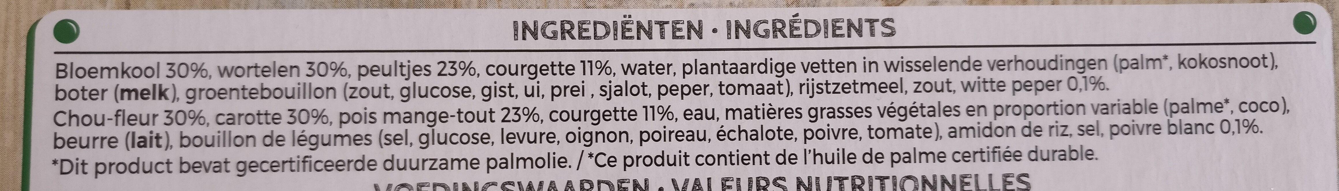 Steam fresh - Ingrédients - fr