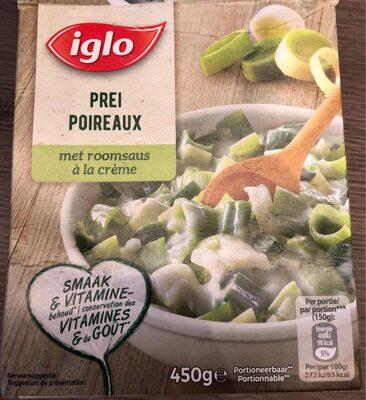 Iglo Poireaux a la creme - Product - fr